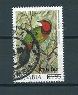 1989 Zambia Birds,oiseaux,vögel,overprint Used/gebruikt/oblitere - Zambia (1965-...)