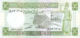 Syria - Pick 100e - 5 Pounds 1991 - Unc - Siria