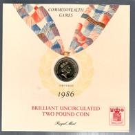 UNITED KINGDOM GRAN BRETAGNA 1986 BRILLANT UNCIRCULATED TWO POUND COIN - Gran Bretagna