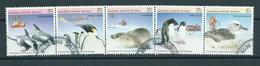 1988 AAT Complete Set/strip Sealife Antarctica Used/gebruikt/oblitere - Australisch Antarctisch Territorium (AAT)