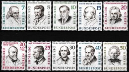 Série De 10 T.-P. Neufs** Berlinois Célèbres 144-145-146-147-148-149-150-150A-151-153 (Yvert) - Allemagne Berlin 1957-59 - Neufs