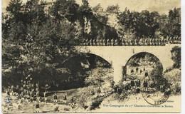 10366 -  SOSPEL : UNE COMPAGNIE DE 27éme CHASSEURS ALPINS TRAVERSANT LA BEVERA -    - Circulée En 1905 - Sospel