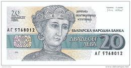 Bulgaria - Pick 100 - 20 Leva 1991 - Unc - Bulgarie