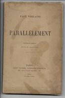 2ème édition PAUL VERLAINE, PARALLÈLEMENT, édit. LEON VANIER PARIS 1894 - Poésie
