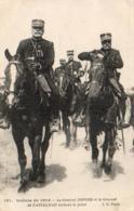 GUERRE 1914- 1918  WW1  Le General JOFFRE Et Le Général De CASTELNAU Visitent Le Front  ... - Guerre 1914-18