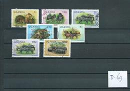 1979/83 Uganda Animals,dieren,tiere Values Up To 1000/' Used/gebruikt/oblitere(D-69) - Verzamelingen (zonder Album)