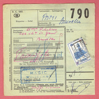 CF - Etiquette D'expédition-Verzendings Bulletin - Huy Nord Le 8-III-1957 Sur 359 Vers Bruxelles - Chemins De Fer
