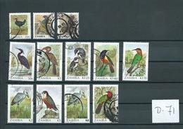 1987 Zambia Birds,oiseaux,vögel,vogels Values Up To K20 Used/gebruikt/oblitere(D-71) - Verzamelingen (zonder Album)