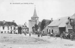 23 - St-Agnant - Environs De Crocq - Beau Plan De La Place - Magnifique Animation - Autres Communes