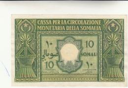Amministrazione Fiduciaria Della Somalia, Banconota Da 10 Somali 1950  Spl++ - [ 6] Colonias