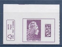 = Marianne L'Engagée International Coin De Feuille Avec Logo éco Adhésif Valeur Affranchissement 1.30€ - 2018-... Marianne L'Engagée