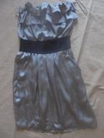 Occasion - Robe Bustier Grise NAF NAF T 36 - Vintage Clothes & Linen