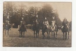 CARTE PHOTO - MONTFORT SUR MEU - FETE - VERCINGETORIX ET 5 GAULOIS A CHEVAL - 1909 - 35 - France