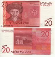 KYRGYSTAN  New 20 Som  Pnew. Dated  2016 UNC. - Kirghizistan