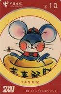 TARJETA TELEFONICA DE CHINA USADA. Zodiac, NX-201-003-WZ(12-1). (153) - Zodiaco