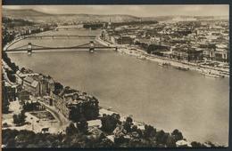 °°° 13208 - HUNGARY - BUDAPEST - DUNAI LATKEP - 1957 With Stamps °°° - Ungheria