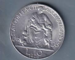 VATICANO VATIKAN VATICAN  1948  PIO XII 10 LIRE - Vatican