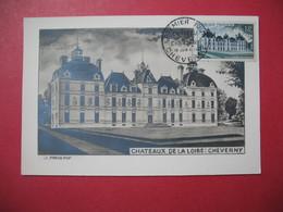 Carte Maximum  1954   -  Premier Jour   Châteaux De La Loire : Cheverny - Maximum Cards
