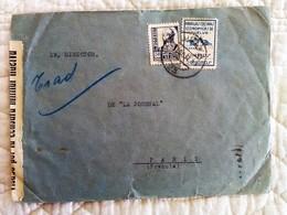ENVELOPPE GUERRE ESPAGNE Cachet De Censure 1937 Visado Por La Censura Militar HUELVA - Marcas De Censura Nacional