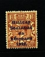 IRELAND/EIRE - 1922  1 1/2 D.  OVERPRINTED THOM MINT  SG 10 - 1922 Governo Provvisorio