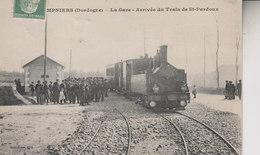 CHAMPNIERS  REILHAC  LA GARE ARRIVEE DU TRAIN DE ST PARDOUX - France