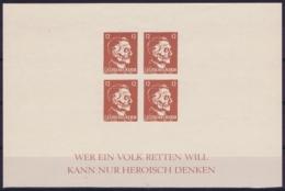 Deutsches Reich: Propaganda Sheets  / Kriegspropaganda Postfrisch/neuf Sans Charniere /MNH/** - Blocks & Kleinbögen