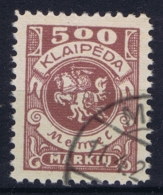Deutsches Reich:  Memel  M 149 Obl./Gestempelt/used  1923 - Memelgebiet