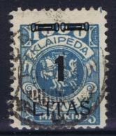 Deutsches Reich:  Memel  M 182 Obl./Gestempelt/used  1923 - Memelgebiet