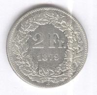 2 Francs Suisse / Switzerland 1879 - TTB - Switzerland