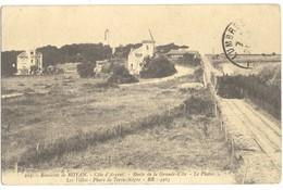 17/CPA - Environs De Royan - Route De La Grande Cote - Le Platin - Les Villas - Phare De Terre Nègre - Royan