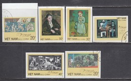 Vietnam 1987 - Paintings Of Picasso, Imperforated, Canceled - Viêt-Nam