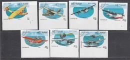 Vietnam 1987 - Avions, Imperforated, Canceled - Viêt-Nam