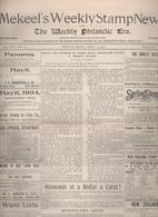 """USA :   95 Revue   """" Mekeel's Weekly Stamp News  """" 1904-1905-1906  Complet N°691-800 RARE RARE - Zeitschriften"""