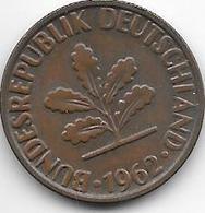 *2 Pfennig 1962 G Km 106  Xf - [ 7] 1949-… : FRG - Fed. Rep. Germany