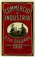 """COMPANHIA De SEGUROS """" COMMERCIO E INDUSTRIA """" - 1936 - Advertising Metal Pocket Calendar - Calendars"""