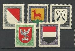 Switzerland SCHWEIZ Bezirkwappen Coat Of Arms Gegen Tuberkulose Vignetten * - Erinnophilie