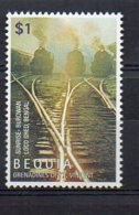 BEQUIA. TRAINS. MNH (2R3529) - Eisenbahnen