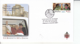 Spagna (2006) - Busta Ricordo Del Viaggio Del Papa Benedetto XVI - 1931-Oggi: 2. Rep. - ... Juan Carlos I