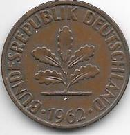 *2 Pfennig 1962 J Km 106  Xf - [ 7] 1949-… : FRG - Fed. Rep. Germany