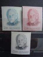 MONACO 1990 Y&T N° 1705 à 1707 ** - EFFIGIE DE S.A.S. RAINIER III - Monaco