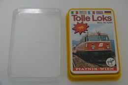 Speelkaarten - Kwartet, Tolle Loks, Ferd. Piatnik & Söhne Wien No. 4240, *** - Vintage - Speelkaarten