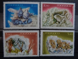MONACO 1990 Y&T N °1730 à 1735 ** - MICROMINERAUX - Unused Stamps