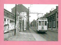 Photo Pâturages St-Pierre   = TRAM Ligne 1  Mons  St  Ghislain     REPRODUCTION - Vervoer