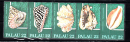 Shell Corall: Palau 1986 Mi Nr 149 - 153  , Postfris - Palau