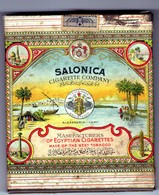 EGYPTIAN CIGARETTE TIN BOX SALONICA CAIRO ALEXANDRIA F.KATTENBURG - Sigarettenkokers (leeg)