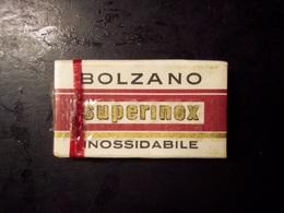 Lamette Da Barba Bolzano Superinox Inossidabile. Scatola In Cartone Sigillata (RAZOR BLADES, LAMES DE RASOIR) - Lamette Da Barba
