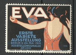 GERMANY 1914 First Variete Expo EVA Berlin Advertising Stamp Werbemarke MNH - Cinderellas