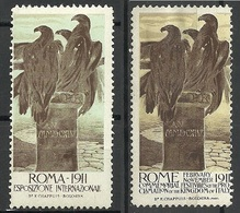 ITALY 1911 Esposizione Internazional EXPO Advertising Poster Stamps * - Erinnofilia