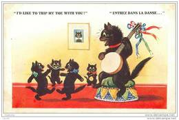 CHATS.N°717.BARNES.I'D LIKE TO TRIP MY TOE WITH YOU.ENTREZ DANS LA DANSE.CHATS NOIRS - Chats