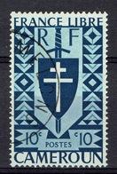 French Cameroon, FRANCE LIBRE, 10c., 1941, VFU Nice Postmark - Cameroun (1915-1959)